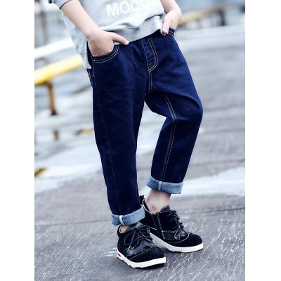Pocket Deep Colored Straight Jeans
