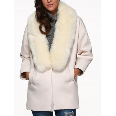 Faux Fur Cocoon Coat