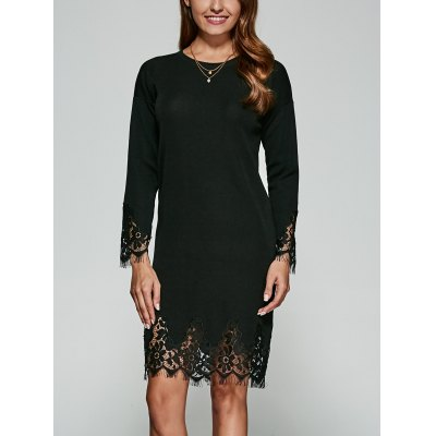 Lace Guipure Knitted Dress