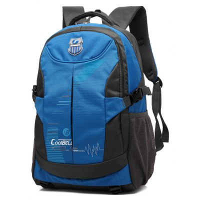 Color Spliced Zippers Backpack