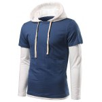 cheap Long Sleeve Insert Drawstring Hoodie