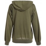 cheap Batwing Sleeve Drawstring Oversized Hoodie