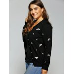 Floral Embroidered Cute Plus Size Cardigan deal