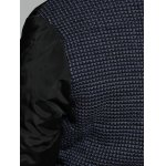 Plus Size Double-Breasted Knit-Insert Coat for sale