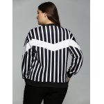 Plus Size Striped Fringed Sweatshirt for sale