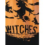 best Witches Print Skew Neck Sweatshirt