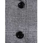 Plus Size Double-Breasted Tie-Waist Coat for sale
