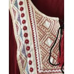 Tribal Embroidered Tasseled Flounced Blouse for sale