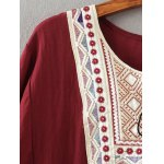 Tribal Embroidered Tasseled Flounced Blouse deal