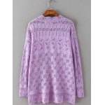 cheap Openwork Textured Cable Knitwear