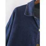 Twin Pockets Buttoned Jean Coat for sale