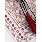 best Plus Size Embroidered Fringed Blouse