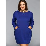 Long Sleeve Plus Szie Dress with Pocket deal