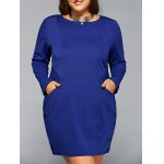 Long Sleeve Plus Szie Dress with Pocket