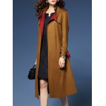 Wrap Faux Suede Trench Coat deal