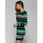 Stretchy Multicolor Striped Slim Dress deal