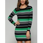 Stretchy Multicolor Striped Slim Dress