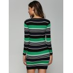 Stretchy Multicolor Striped Slim Dress for sale