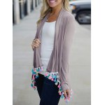 Long Sleeve Fringes Cardigan deal