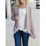 cheap Long Sleeve Fringes Cardigan