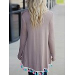 Long Sleeve Fringes Cardigan for sale