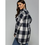 Plus Size Plaid Asymmetrical Shirt deal