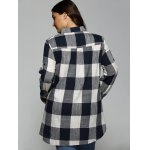 Plus Size Plaid Asymmetrical Shirt for sale