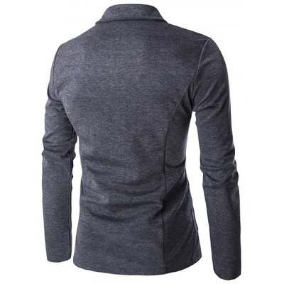 Turn-Down Collar Single-Breasted Pockets Design Jacket