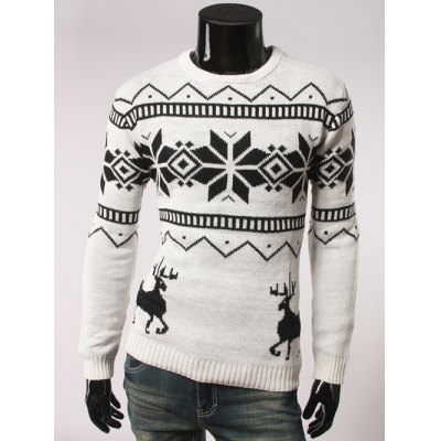 Round Collar Christmas Sweater