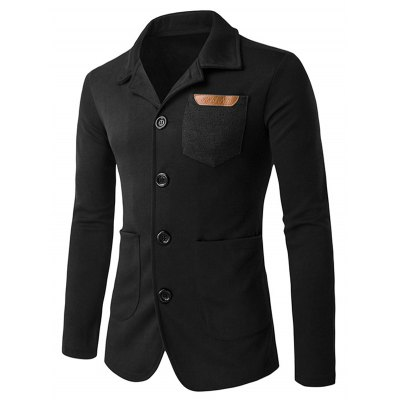 Patch Pocket Single Breasted Jacket