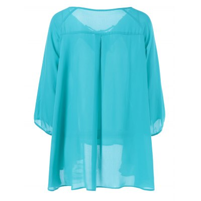 Plus Size Lace Insert Tie Front BlousePlus Size Tops<br>Plus Size Lace Insert Tie Front Blouse<br><br>Material: Polyester<br>Clothing Length: Long<br>Sleeve Length: Full<br>Collar: V-Neck<br>Style: Casual<br>Season: Spring,Summer<br>Pattern Type: Patchwork<br>Weight: 0.350kg<br>Package Contents: 1 x Blouse