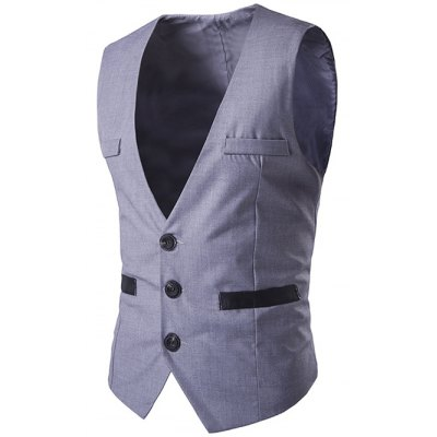 Buckled Single Breasted Waistcoat