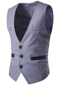 Buckled Welt Pocket Single Breasted Waistcoat