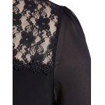Casual Openwork Lace Layered Chiffon Blouse deal