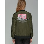 best Patched Printed Bomber Jacket