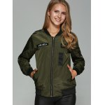 cheap Patched Printed Bomber Jacket