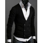 cheap Long Sleeves Double-Breasted Cardigan