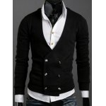 Long Sleeves Double-Breasted Cardigan