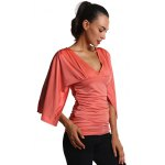Ruched Fitted Bell Sleeve Blouse for sale