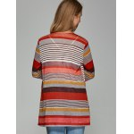 Colorful Striped Asymmetrical Cardigan for sale