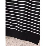 Striped Plus Size Fleece Black and White Sweatshirt photo