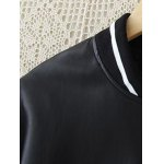 Plus Size PU Leather Bomber Jacket deal