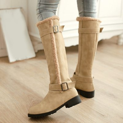 Flat Heel Double Buckle PU Leather BootsWomens Boots<br>Flat Heel Double Buckle PU Leather Boots<br><br>Gender: For Women<br>Boot Type: Fashion Boots<br>Boot Height: Mid-Calf<br>Boot Tube Height: 36CM<br>Boot Tube Circumference: 37CM<br>Toe Shape: Round Toe<br>Heel Type: Flat Heel<br>Heel Height Range: Low(0.75-1.5)<br>Closure Type: Slip-On<br>Shoe Width: Medium(B/M)<br>Pattern Type: Solid<br>Embellishment: Buckle<br>Upper Material: PU<br>Weight: 1.380kg<br>Season: Winter<br>Platform Height: 1.2CM<br>Heel Height: 3.5CM<br>Package Contents: 1 x Boots (pair)