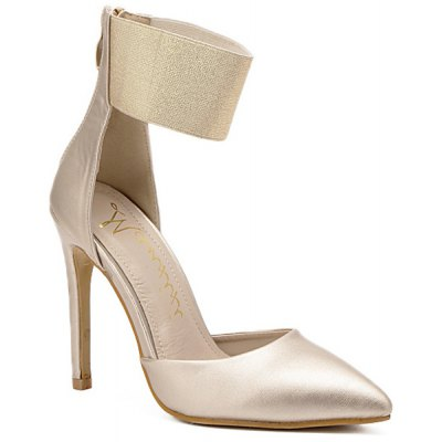 Elastic Band Pointed Toe Pumps