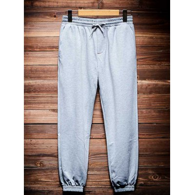 Pocket Back Shirred Waistband Drawstring Jogger Pants