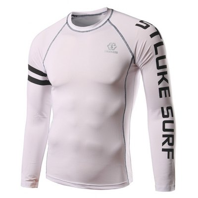 Active Raglan Long Sleeve Letter Cycling Jerseys