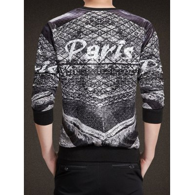 Long Sleeve Quilting Paris Crew Neck SweatshirtMens Hoodies &amp; Sweatshirts<br>Long Sleeve Quilting Paris Crew Neck Sweatshirt<br><br>Material: Cotton Blends<br>Clothing Length: Regular<br>Sleeve Length: Full<br>Style: Fashion<br>Weight: 0.450kg<br>Package Contents: 1 x Sweatshirt