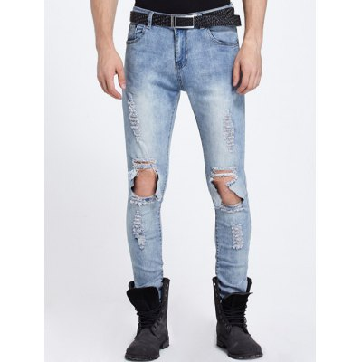 Knee Hole Ripped Jeans