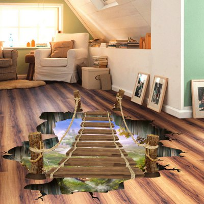 Removable 3D Drawbridge Floor Sticker