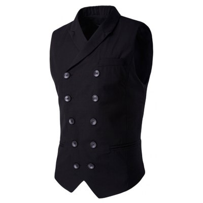 Lapel Collar Double Breasted Waistcoat